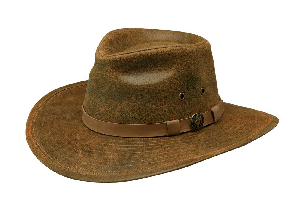 Outback Trading Kodiak Leather Hat