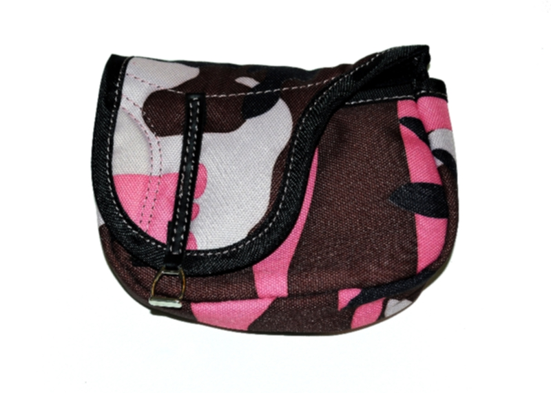 English Saddle Shaped Nylon Accessory Bag