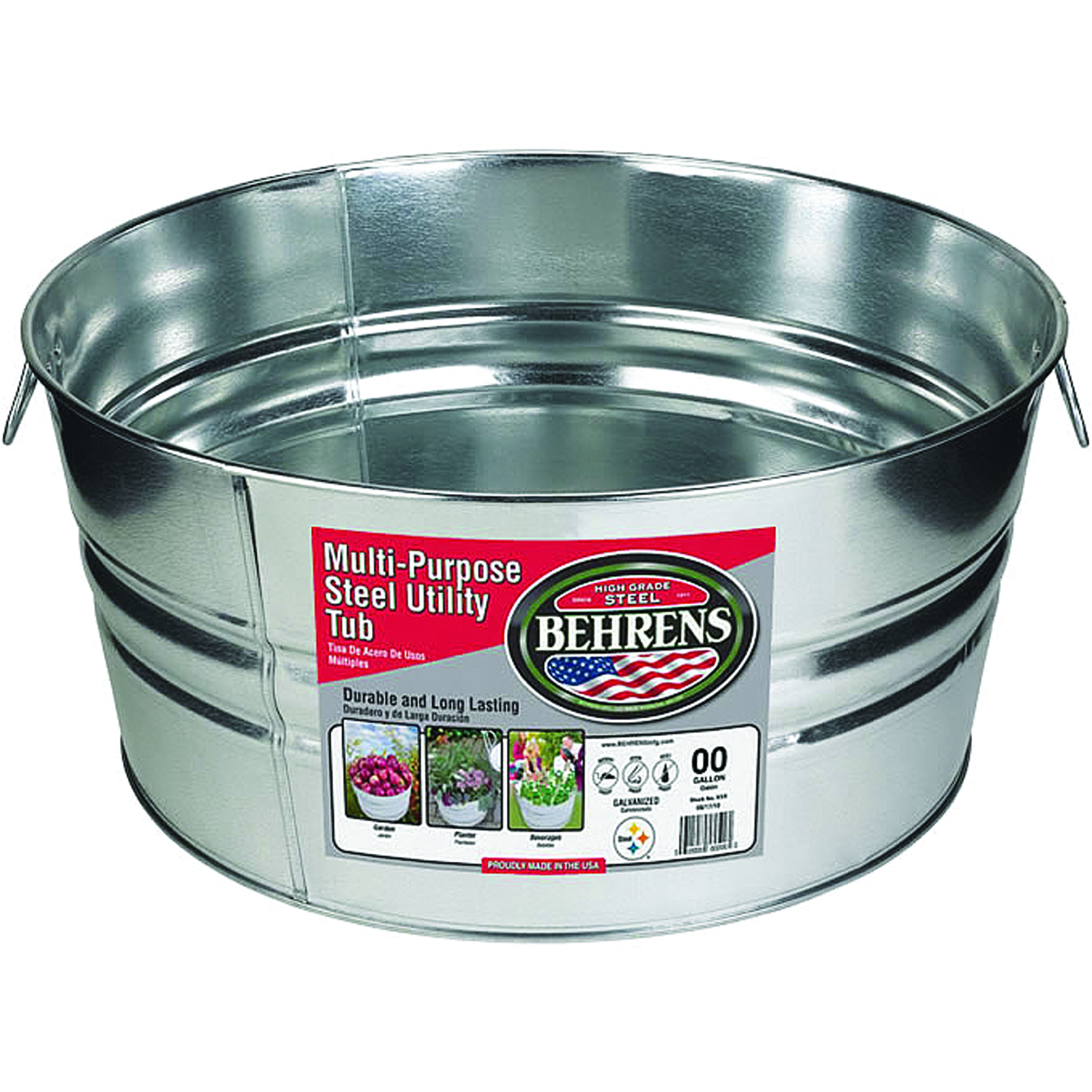 Galvanized Steel Round Tub
