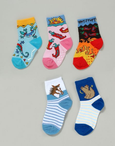 Gift Corral Gift Corral Infant Western Socks - Saguaro Madness