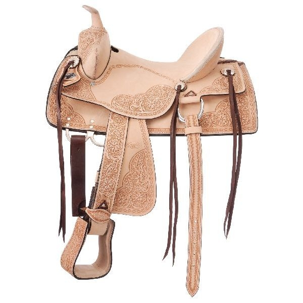 King Series Roma Old Time Hard Seat Roughout Trail Saddle