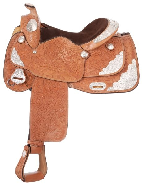 Silver Royal Classic Oak Silver Show Saddle