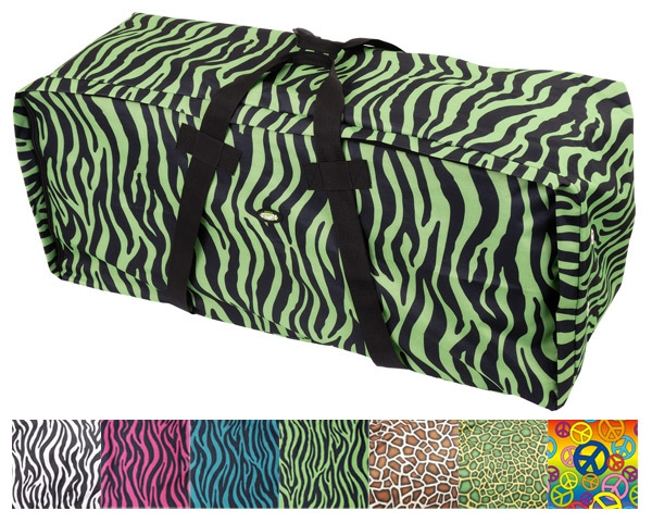 Tough-1 Heavy Denier Hay Bale Protector/Carrier - Zebra Prints