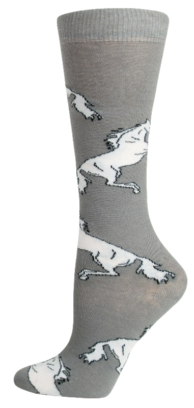 Gatsby Girl Novelty Rearing Horse Socks
