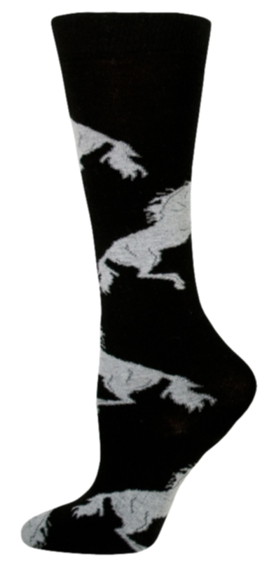 Gatsby Girl Novelty Rearing Horse Socks