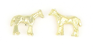 Finishing Touch Standing Horse Gold Earring