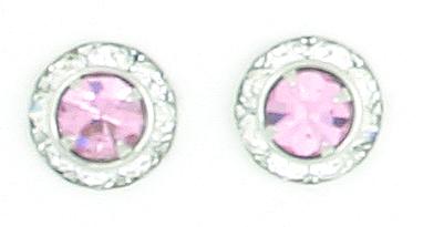 Finishing Touch Crystal Rondelle Earrings - Light Rose