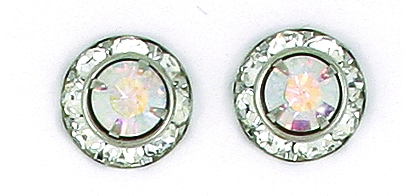 Finishing Touch Aurora Borealis Crystal Rondelle Earrings