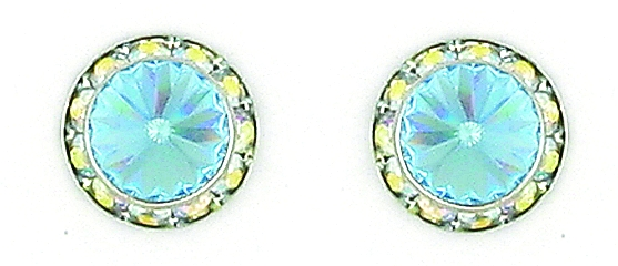 Finishing Touch Aqua Rivoli Stone Earrings