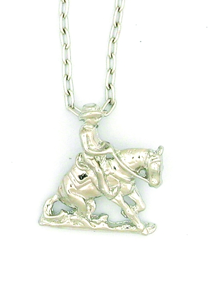 Finishing Touch Reining Horse Necklace
