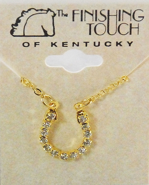 Finishing Touch Horseshoe Crystal Necklace