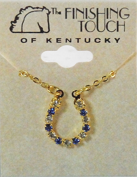 Finishing Touch Crystal Horseshoe Necklace - Sapphire