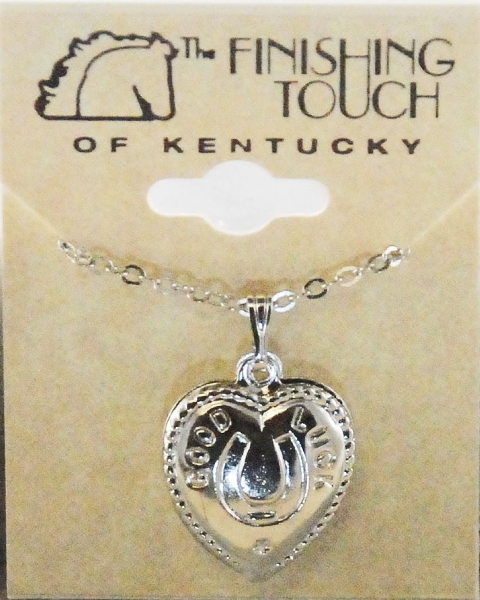 Finishing Touch Horseshoe with Good Luck Heart Necklace