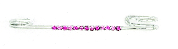 Finishing Touch 2-Tone Rhinestone Strip Stock Pin - Pink