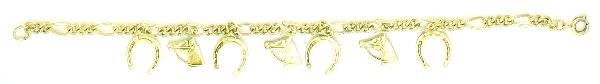 Finishing Touch Horseshoe with Horse Head Charm Bracelet