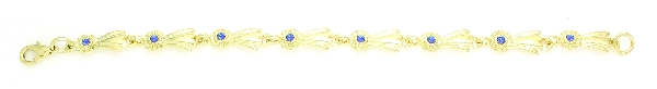 Finishing Touch Small Blue Ribbon Bracelet - Gold