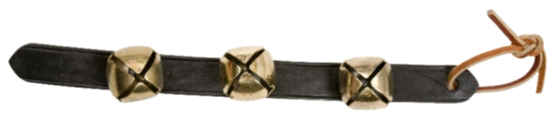 3-Sleigh Bell on Leather Strap