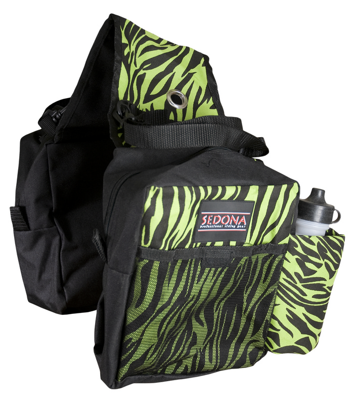 SEDONA Printed Dual Saddle Bags with Water Bottles