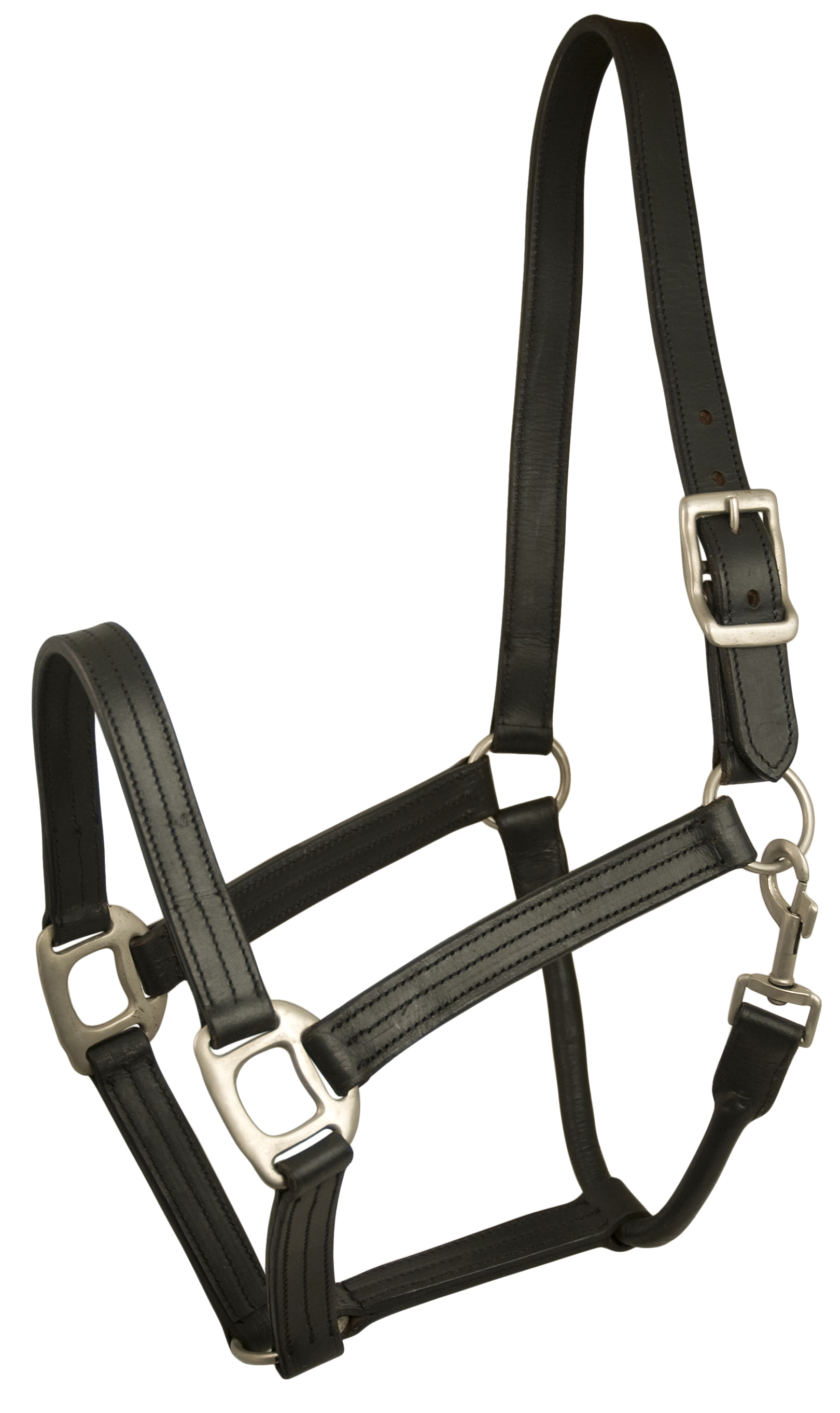 Gatsby Triple Stitched Leather Halter
