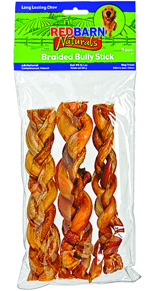 red barn naturals braided bully sticks 7 3 pack dealtrend. Black Bedroom Furniture Sets. Home Design Ideas