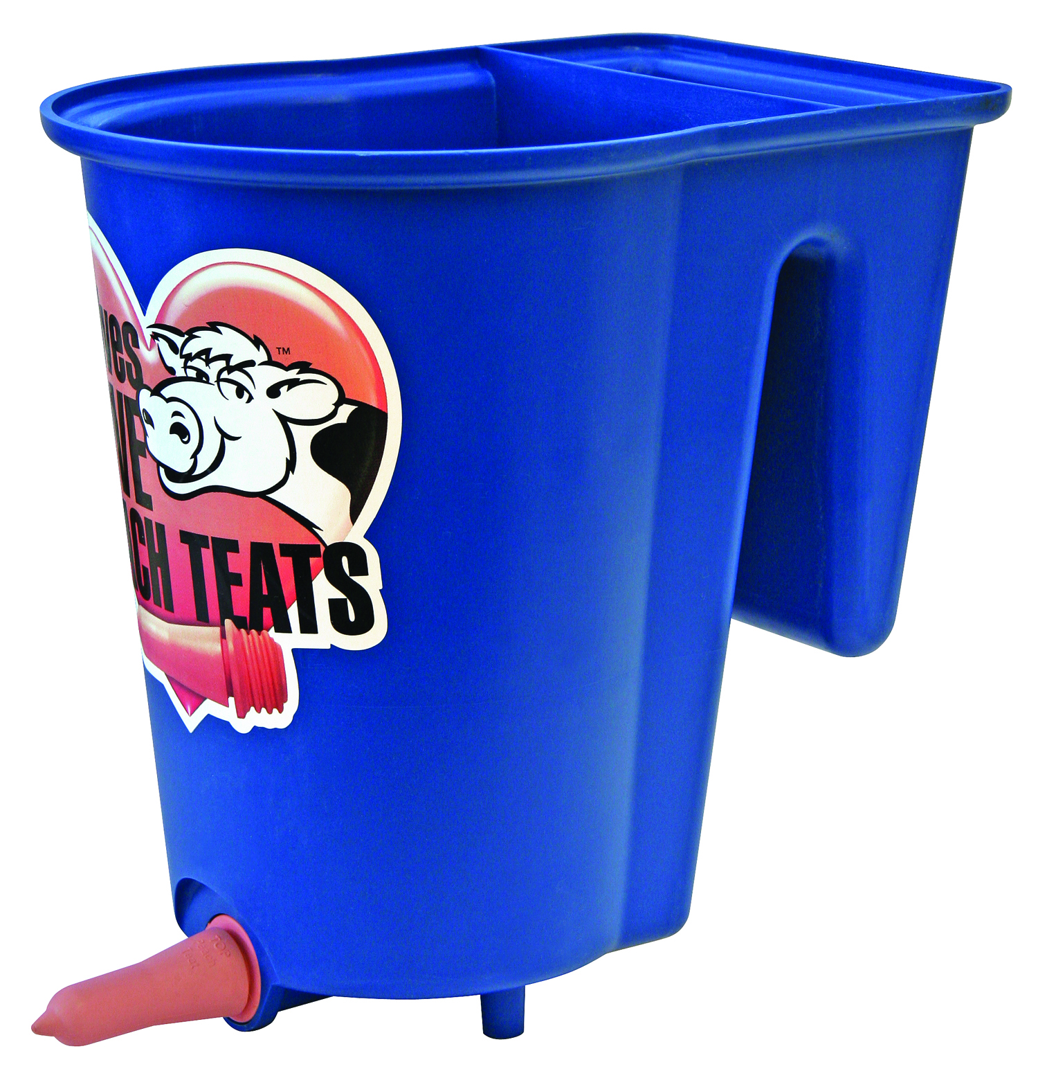Peach Teat Single Calf Bucket Feeder