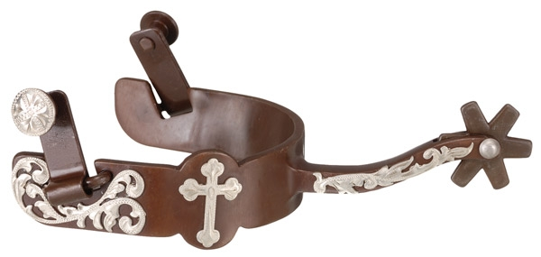 Kelly Silver Star Equitation Spur with Cross