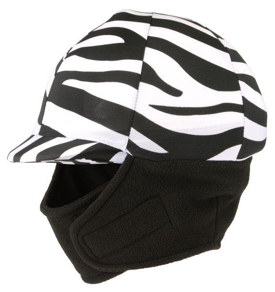 Tough-1 Lycra Helmet Cover with Fleece Neck & Ear Warmers in Prints