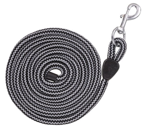 Tough-1 Multi-Color Woven Poly Lead with Pewter Bolt Snap - 6 Pack