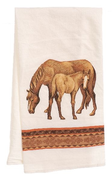 Gift Corral Horses Towel