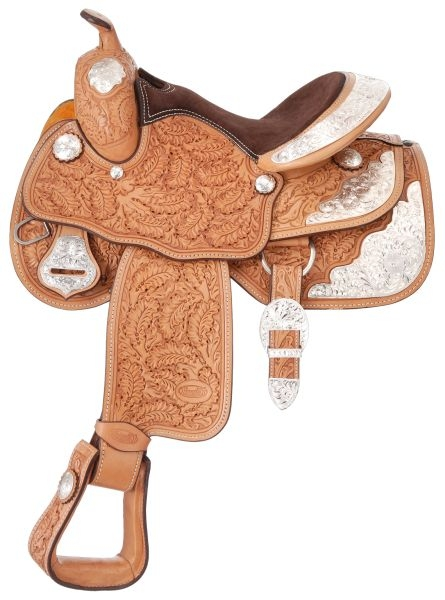 Silver Royal Royal Oak Youth Silver Show Saddle - Berry Trim