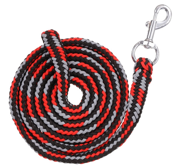 Tough-1 Multi-Color Poly Cord Lead with Pewter Bolt Snap - 6 Pack