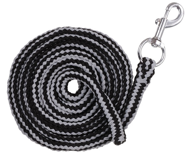 Tough-1 Multi-Color Cotton Lead with Pewter Bolt Snap - 6 Pack