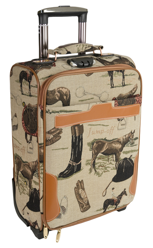 Jump-Off Tapestry English-Print Luggage Bag