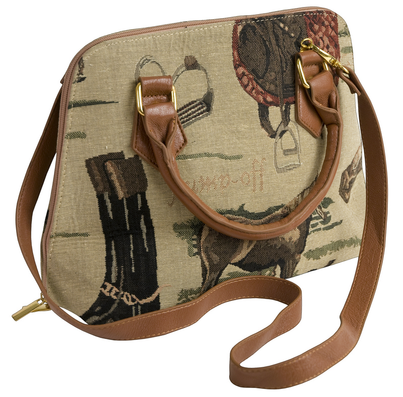 Jump-Off English Tapestry Hand Bag