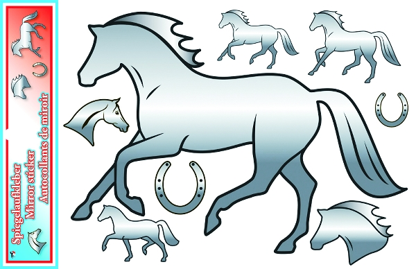 Mirror Horse Stickers