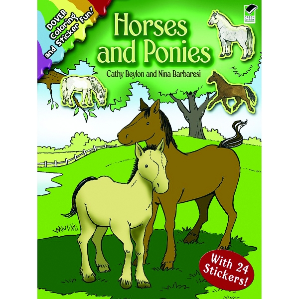 Horses And Ponies Coloring & Sticker Book