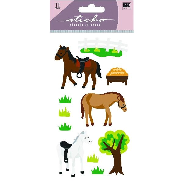 Horses & Tree Glitter Stickers