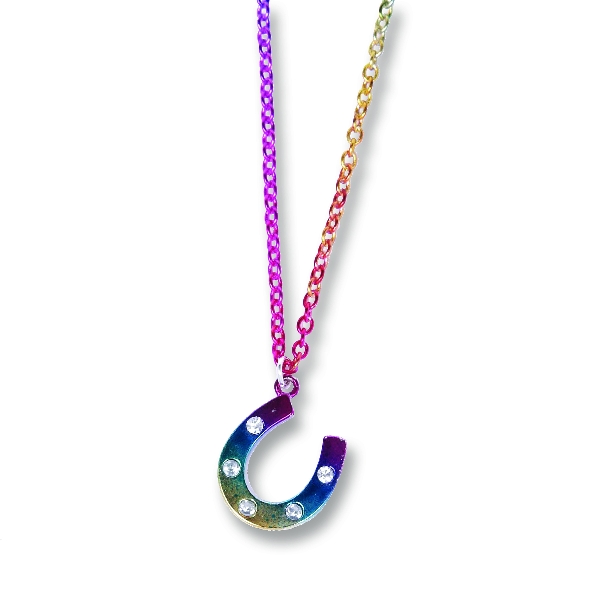 Rainbow Horseshoe Necklace