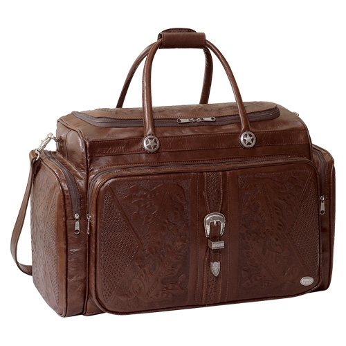 AMERICAN WEST Mahogany Oakleaf Rodeo Bag