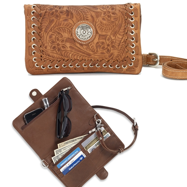 AMERICAN WEST Grab and Go Folded Clutch Handbag
