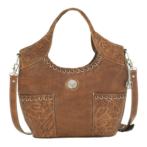 AMERICAN WEST Harvest Moon Zip Tote Handbag