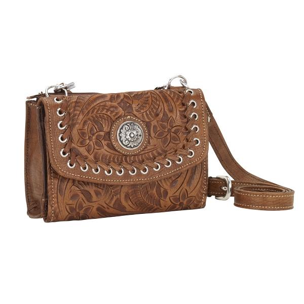 AMERICAN WEST Texas Two Step Handbag/Wallet Combo