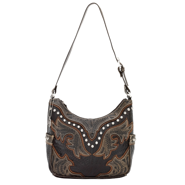 AMERICAN WEST Cowgirl Wings Structured Hobo Style Handbag