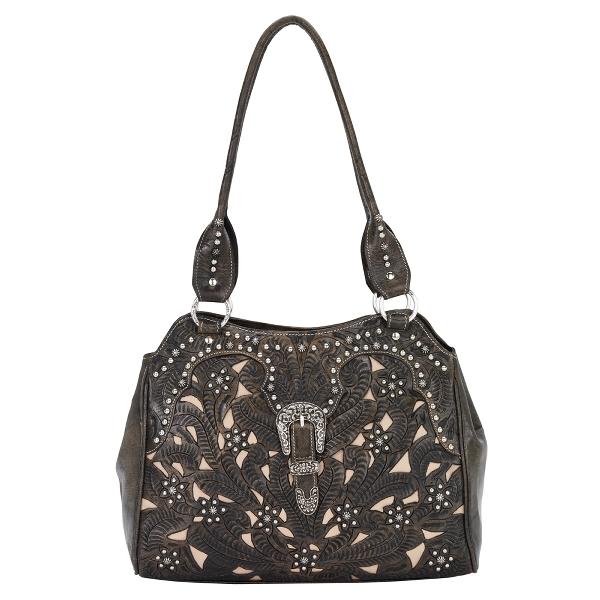 AMERICAN WEST Tumbleweed Zip Tote Handbag