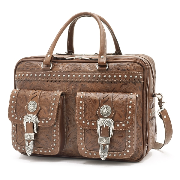 AMERICAN WEST Retro Romance 3-Compartment Briefcase