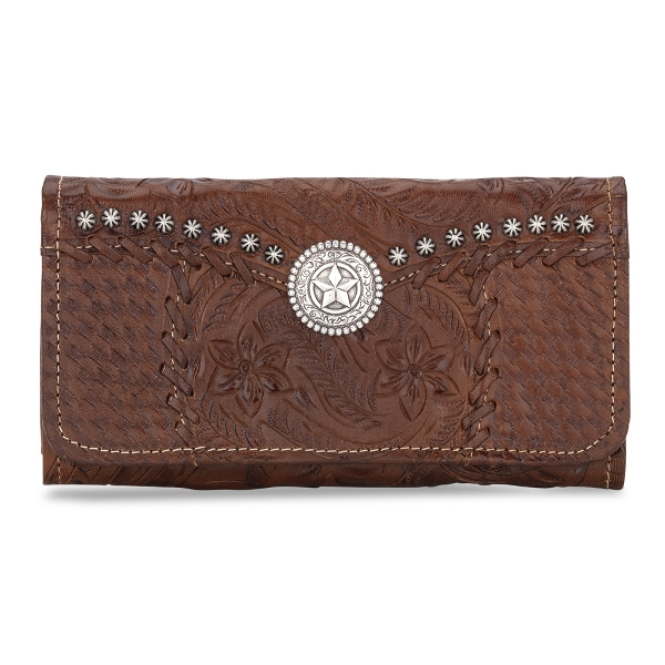 AMERICAN WEST Retro Romance Ladies' Tri-Fold Wallet