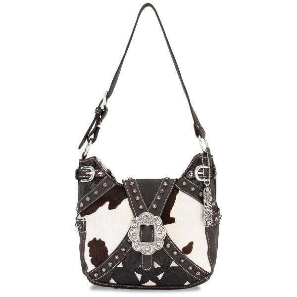 AMERICAN WEST Prairie Rose Hobo Style Handbag
