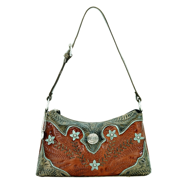 AMERICAN WEST Desert Wildflower Shoulder Handbag