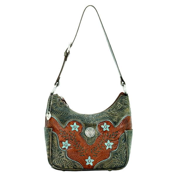 AMERICAN WEST Desert Wildflower Hobo Style Handbag