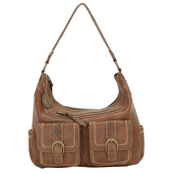 BANDANA Cimarron Zip Top Hobo Style Handbag